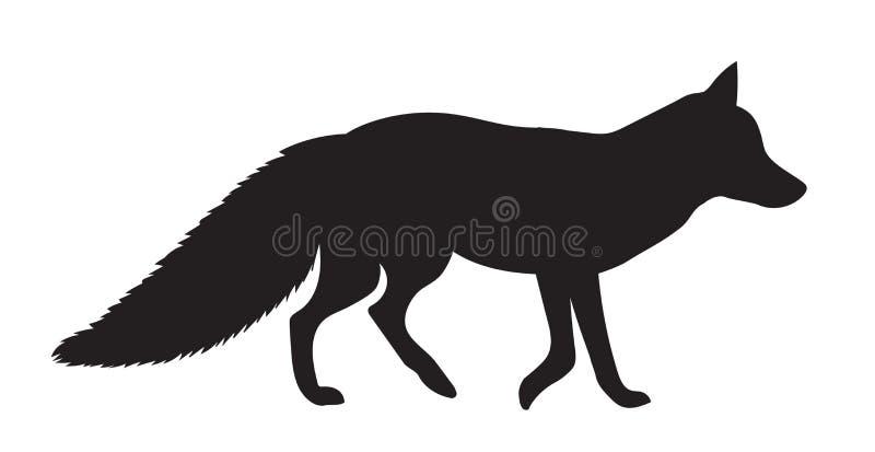 Fox силуэта вектора черный иллюстрация штока