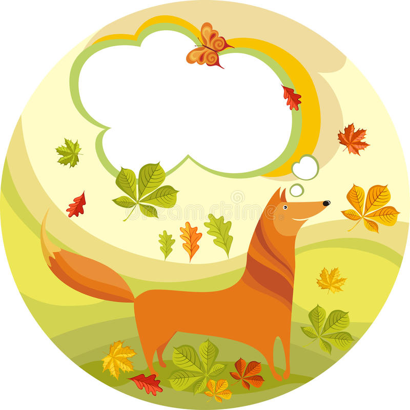 Fox. Vector illustration of a cute fox royalty free illustration