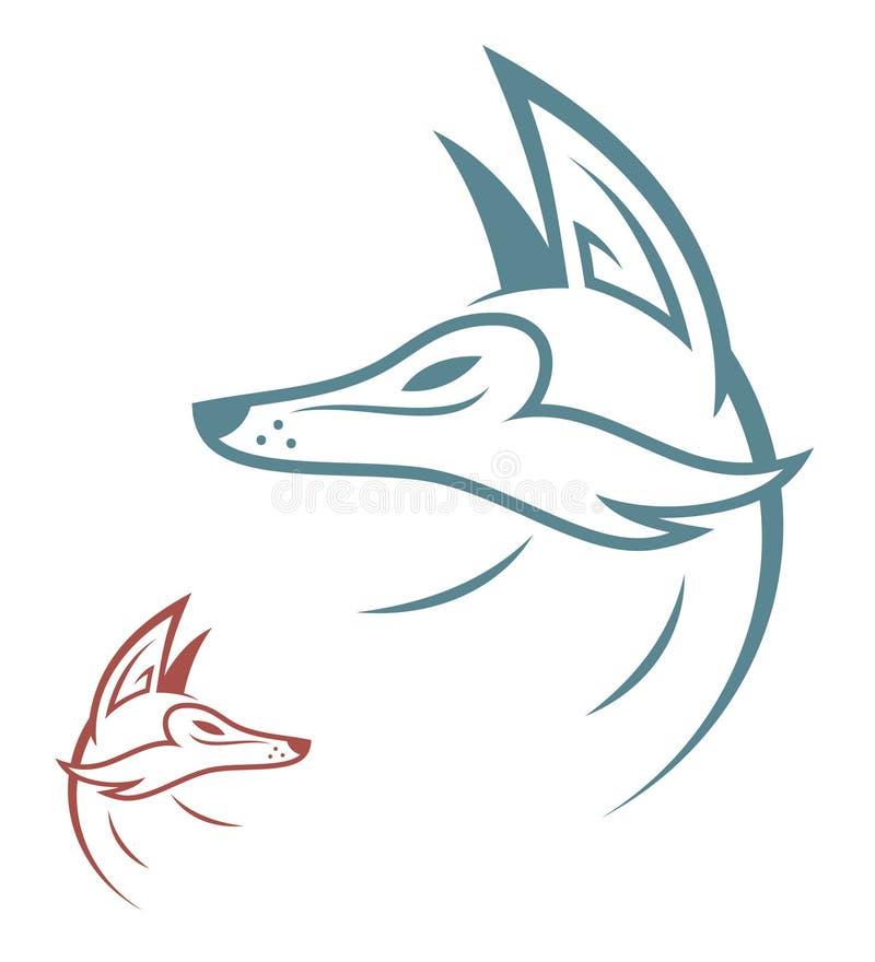 Fox royalty free illustration