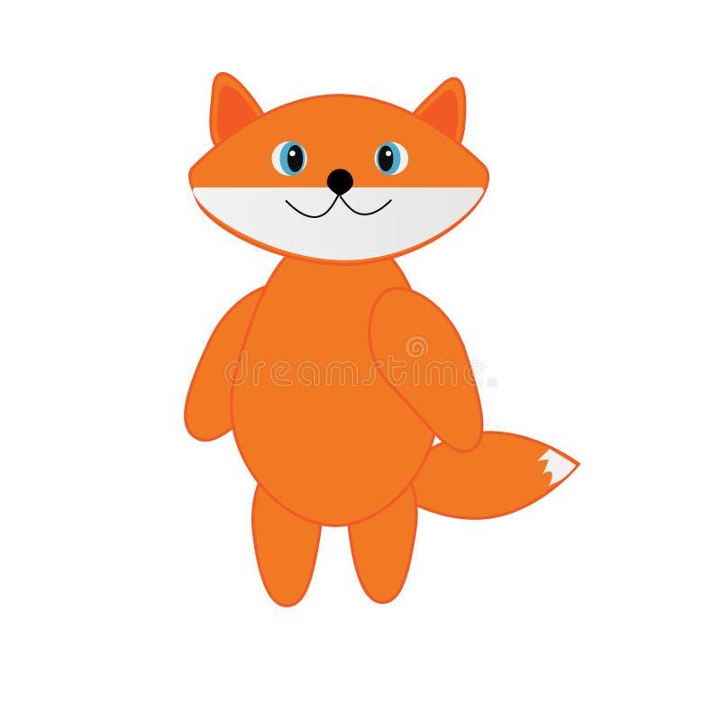 Fox alaranjado sob a forma dos brinquedos ilustração do vetor