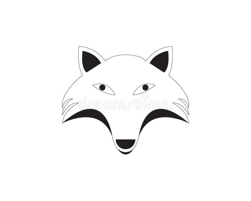 Fox animal head logo and symbols. Illustration vector illustration