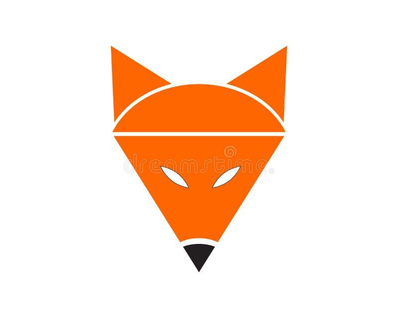 Fox animal head logo and symbols. Illustration royalty free illustration