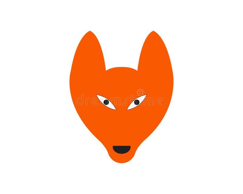 Fox animal head logo and symbols. Illustration stock illustration