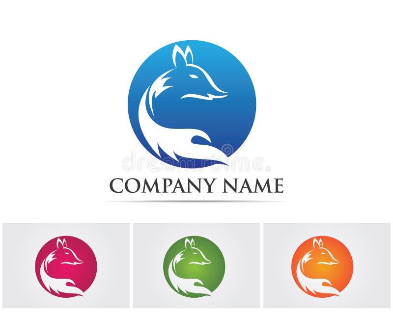 Fox animal head logo and symbols vector template.  vector illustration