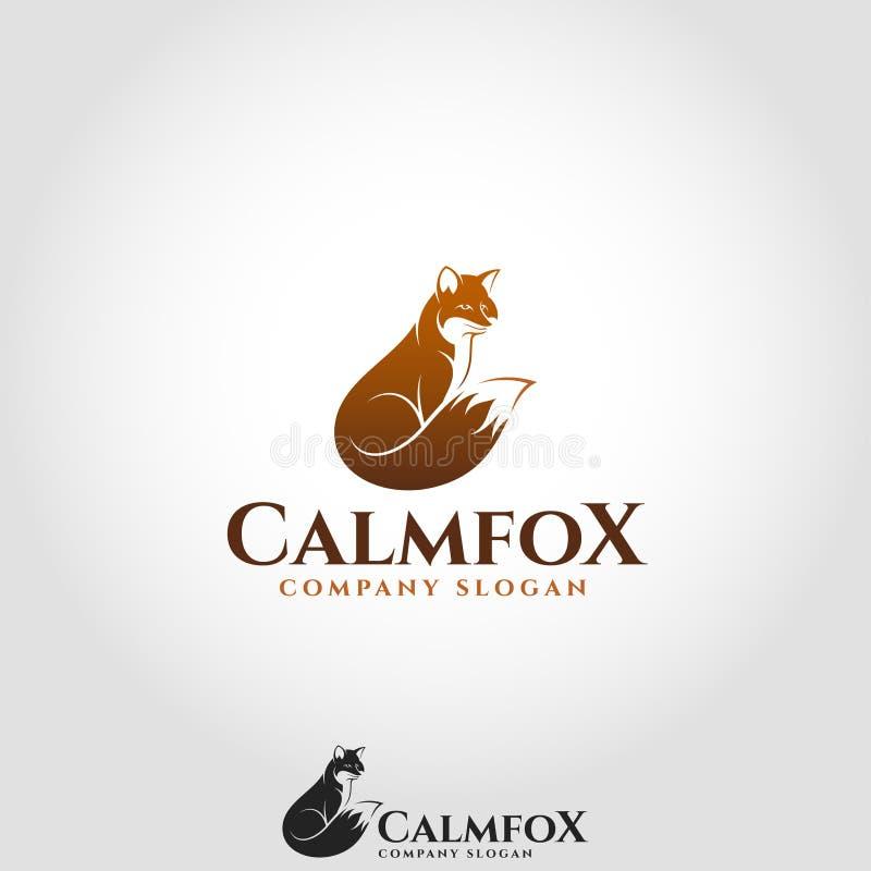 Fox calmo - logotipo animal ilustração do vetor