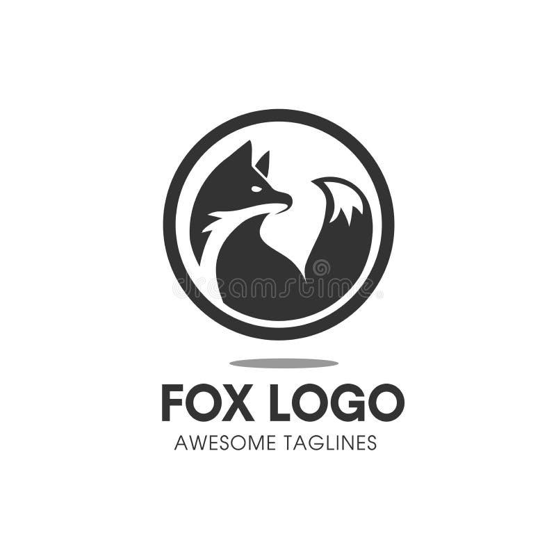 Fox circle Symbol logo vector vector illustration