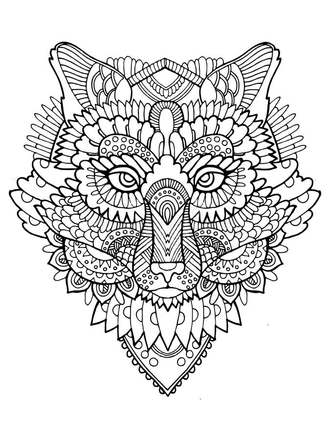 fox coloring book vector illustration - Fox Coloring Book