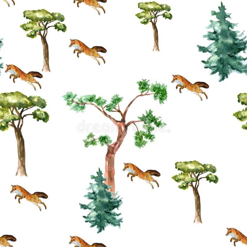 Fox del modelo y árbol foto de archivo libre de regalías