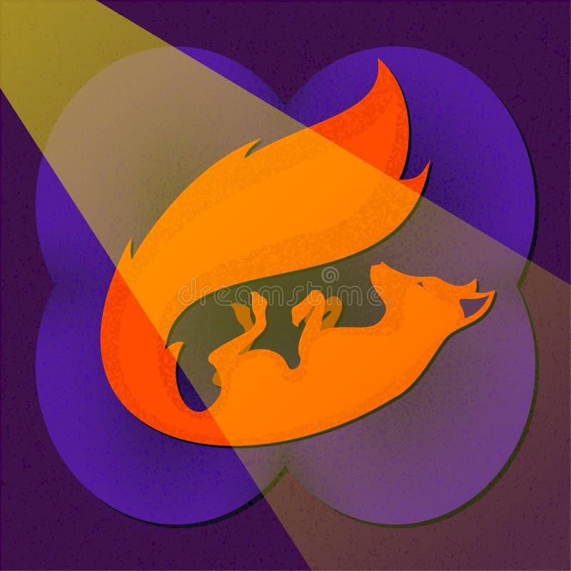 Fox, der auf den Osmanen stillsteht stockbilder