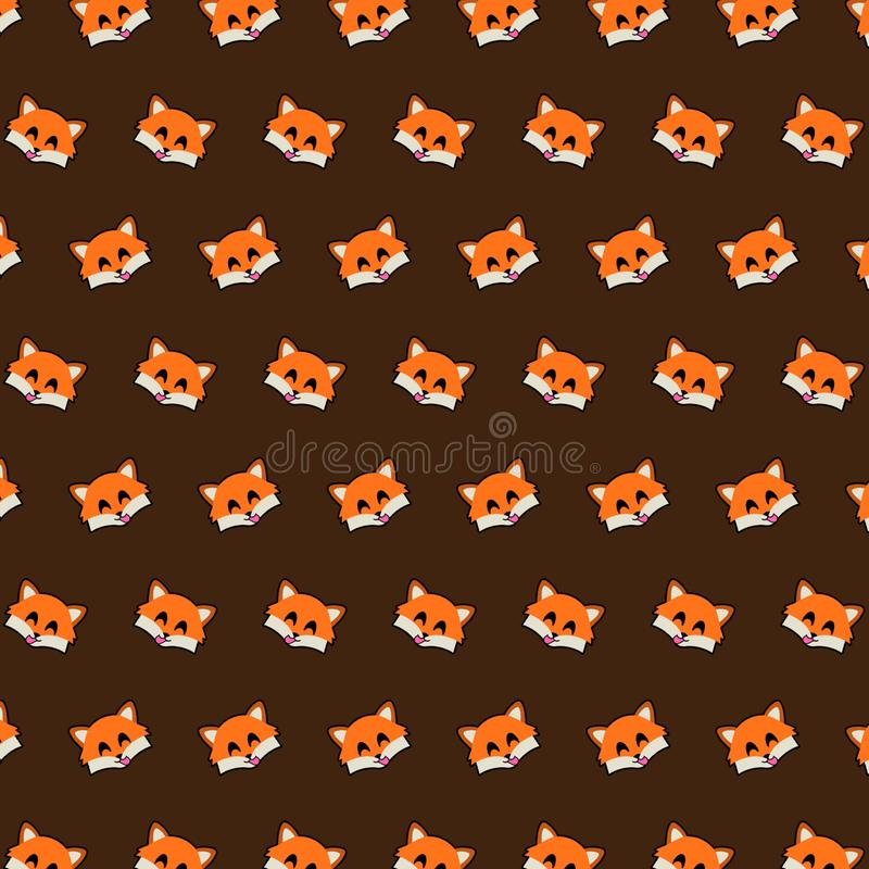 Fox - emoji样式11 向量例证