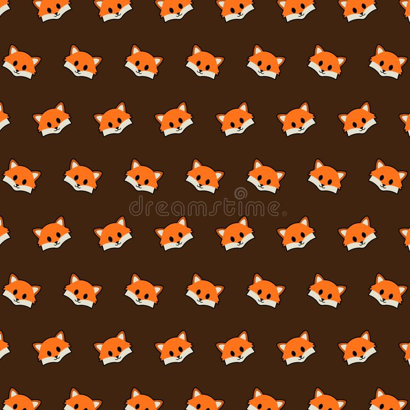 Fox - emoji样式19 向量例证