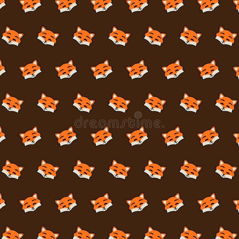 Fox - emoji样式18 向量例证