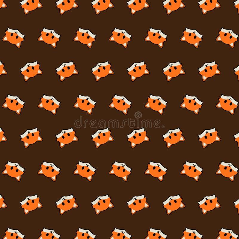 Fox - emoji样式46 库存例证