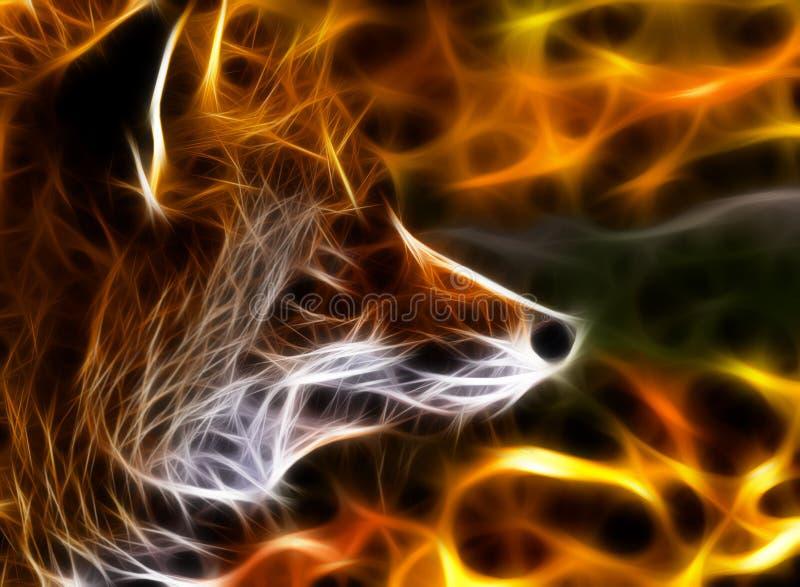 Fox fractal stock illustration