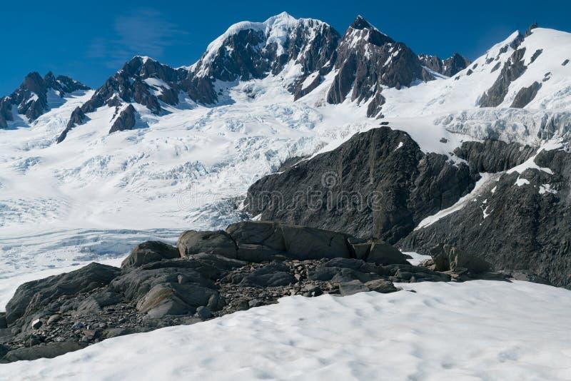 Fox góra i lodowa zachodniego wybrzeża Nowa Zelandia południowa wyspa zdjęcie stock