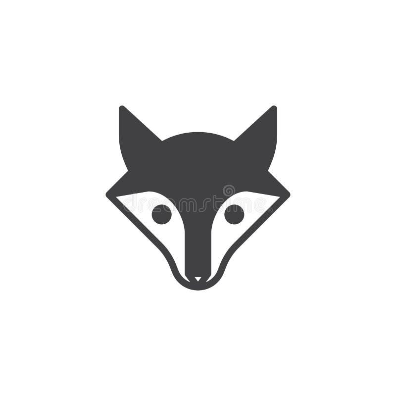 Fox głowy ikony wektor ilustracja wektor