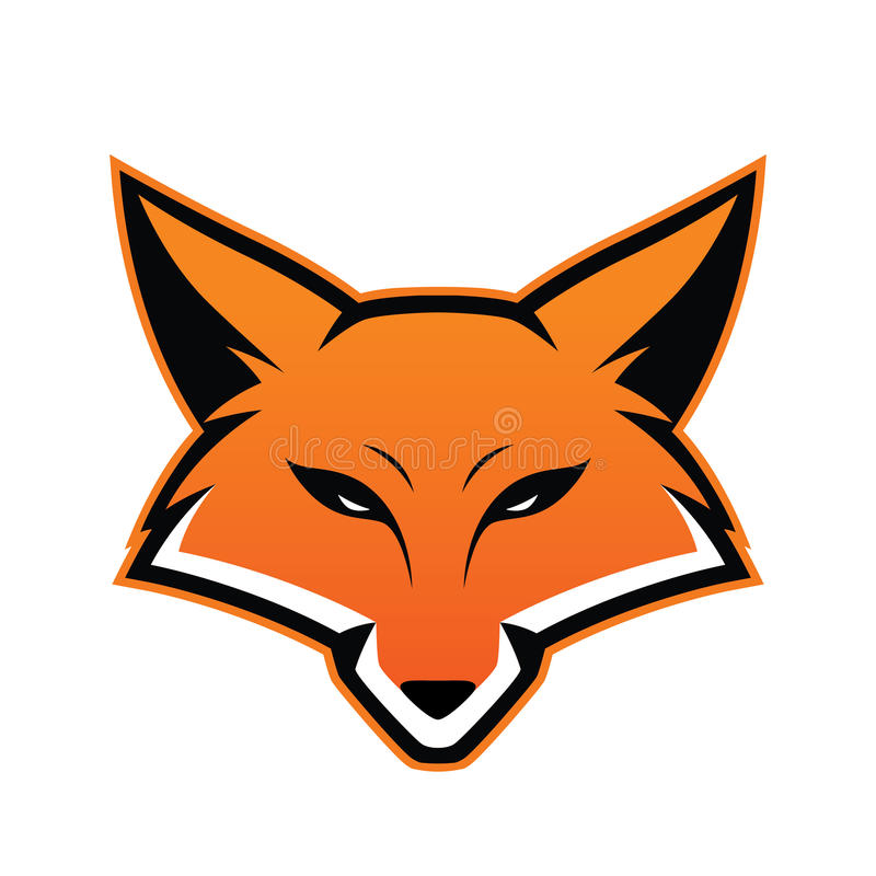 Fox głowy maskotka ilustracji