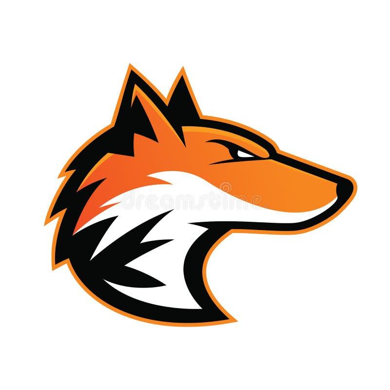 Fox głowy maskotka royalty ilustracja