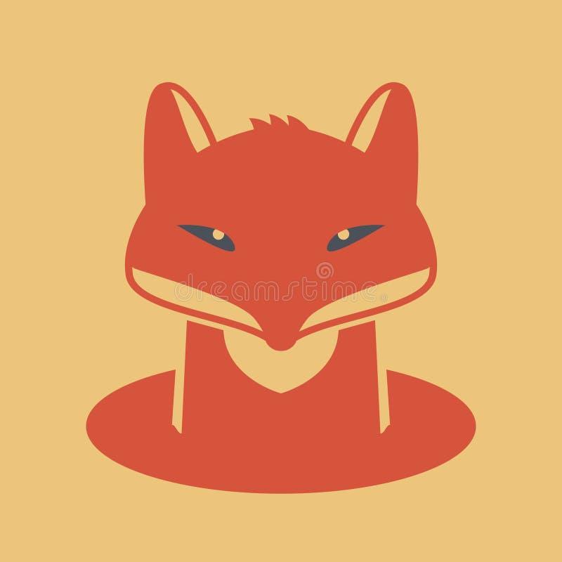Fox głowy znak royalty ilustracja