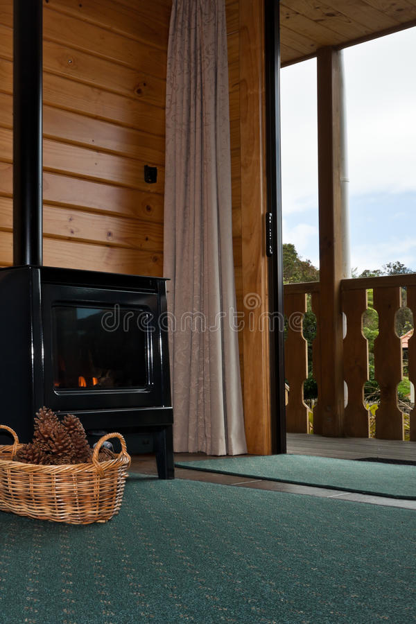 Fox Glacier Lodge apartment Interior - New Zealand royalty free stock image