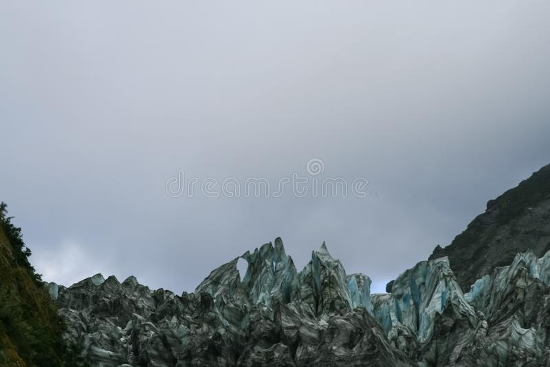 Fox Glacier in New Zealand. New Zealand stock image