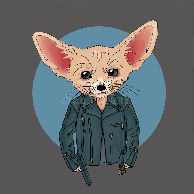 Fox habillé dans le style punk images stock