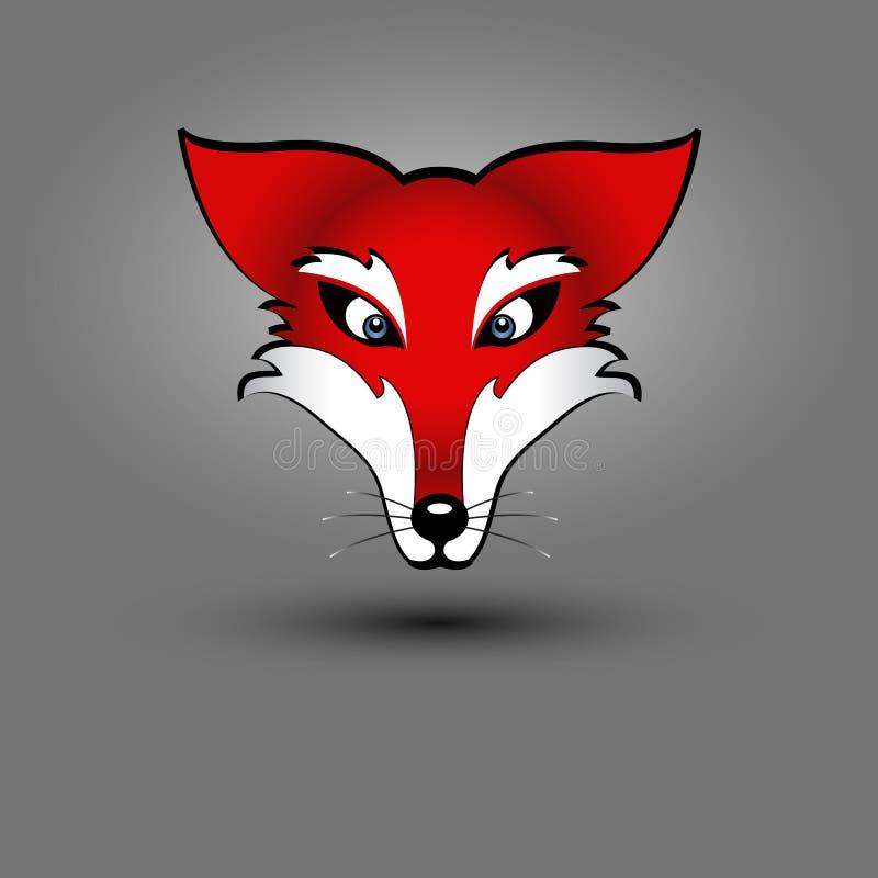 Download Fox head stock vector. Image of graphics, coony, gray - 23206180