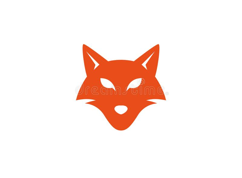 Fox head and face looking in front for logo. Esign illustration vector illustration