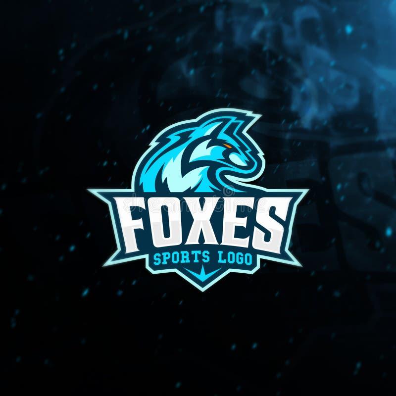 Fox Head mascot for e-sport logo and t-shirt print vector illustration