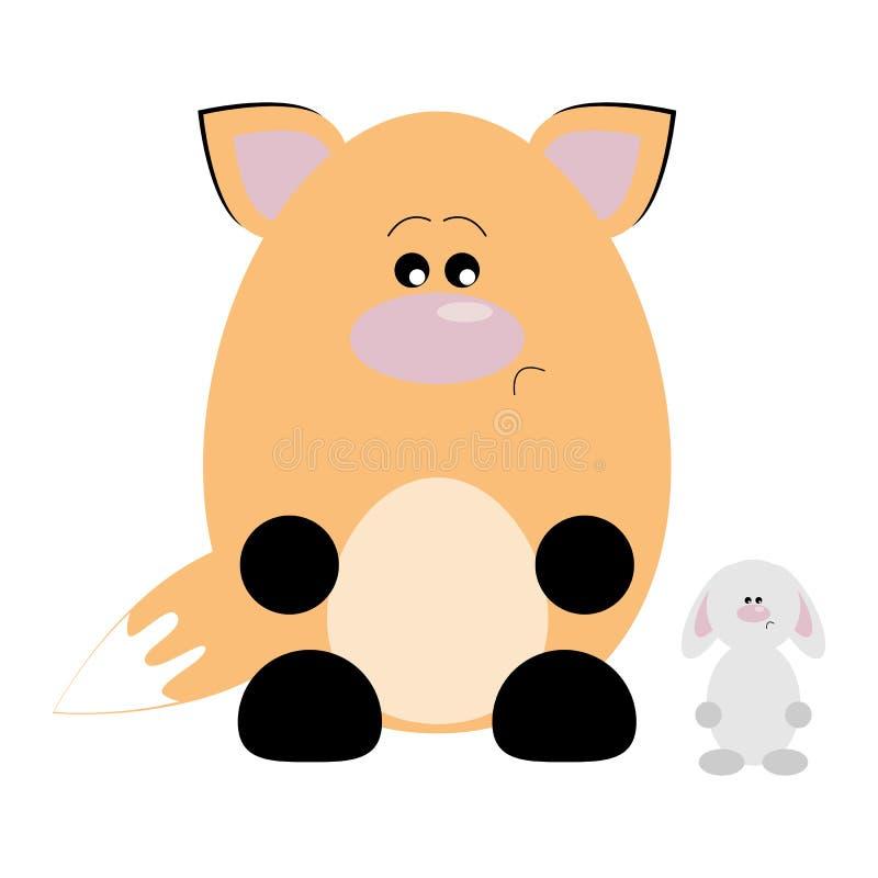 Fox i królik Smutni royalty ilustracja