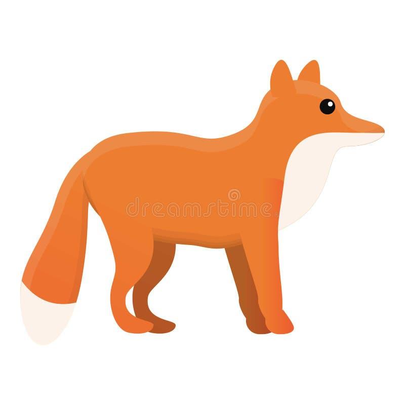 Fox ikona, kreskówka styl royalty ilustracja
