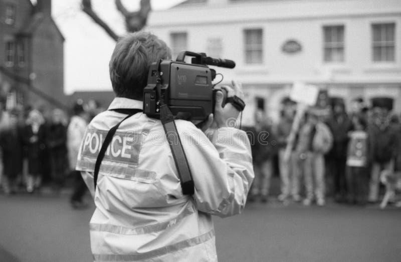 Fox-Jagdprotest, England lizenzfreies stockfoto