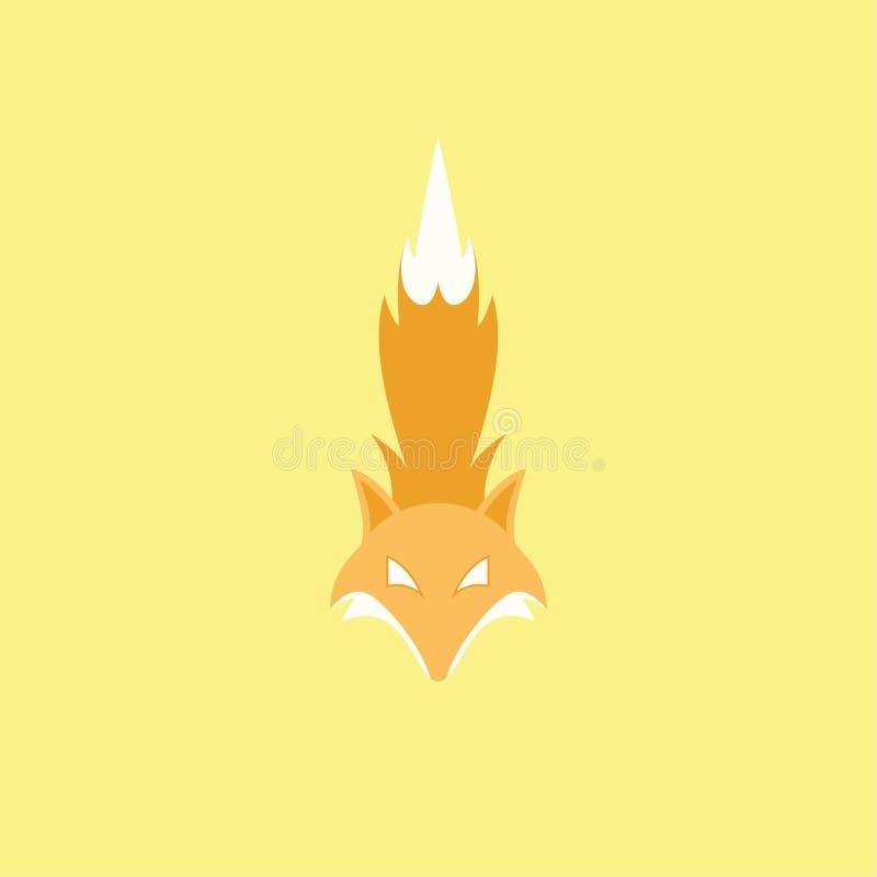 Fox kierowniczy i ogonu logo royalty ilustracja