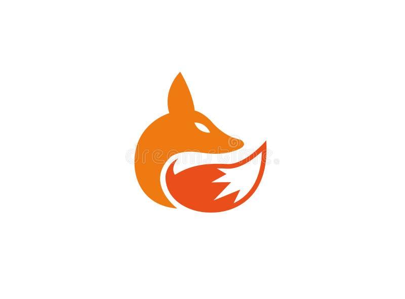 Fox kierowniczy i ogonu wilk dla logo projekta royalty ilustracja