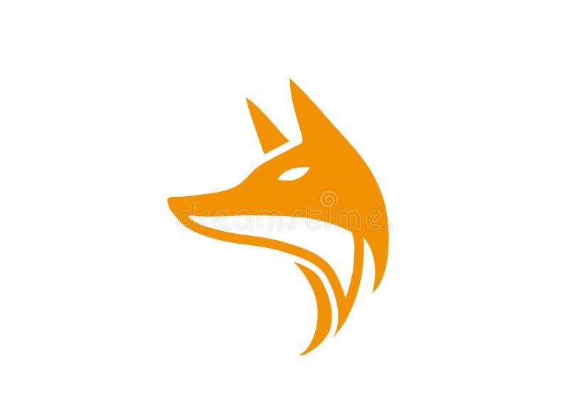 Fox kierowniczy patrzeć strona dla logo projekta ilustracji ilustracji