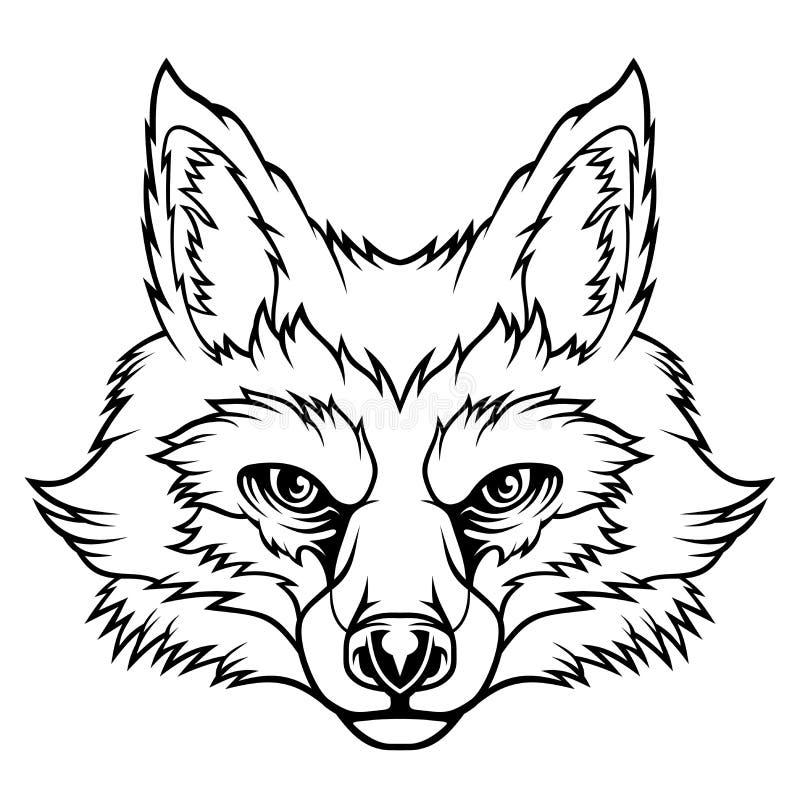 Fox-Kopf stock abbildung