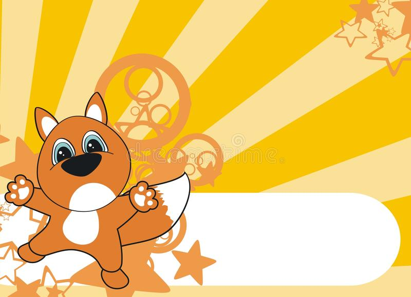 Fox kreskówki tło royalty ilustracja