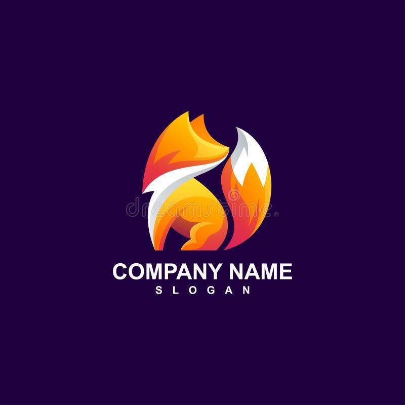 Fox logo design vector illustration. Awesome fox logo design vector illustration royalty free illustration