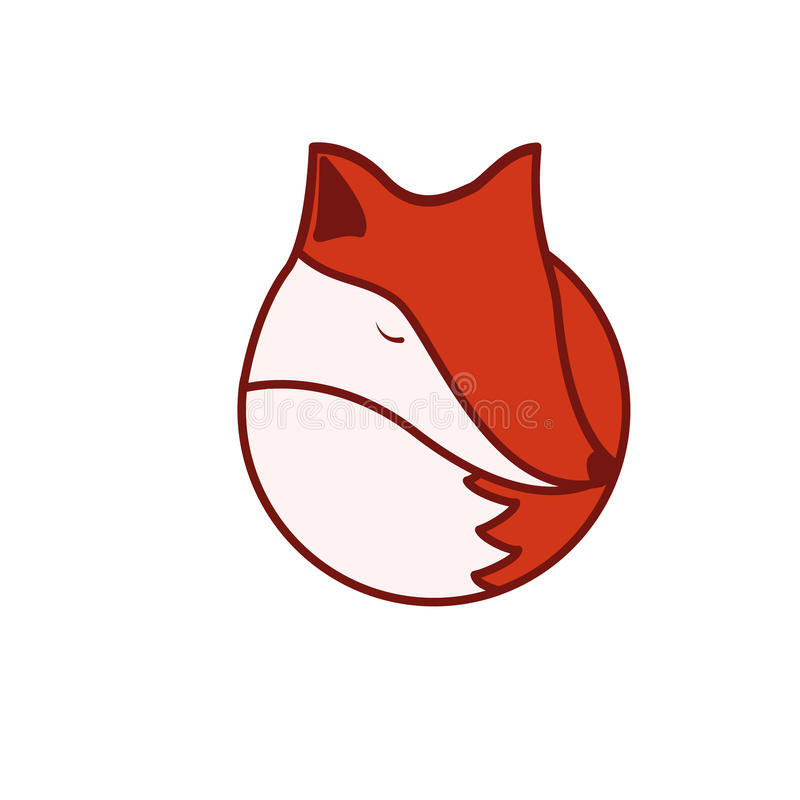 Fox logo royalty free stock photos