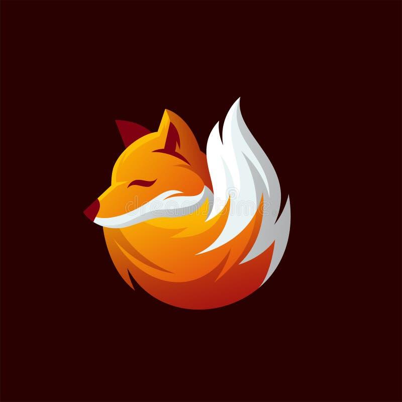 Fox logo projekt gotowy używać royalty ilustracja