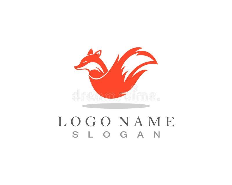 Fox logo template vector icon illustration design vector illustration