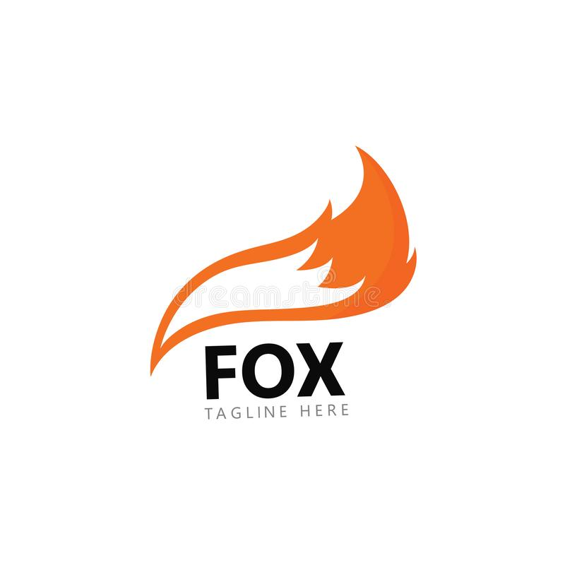 Fox logo template vector icon illustration royalty free illustration