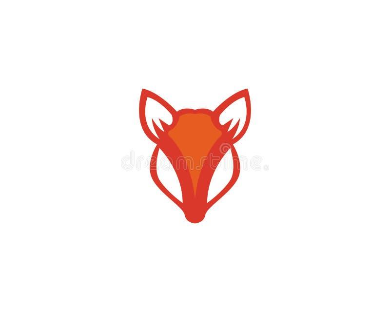 Fox logo vector template illustrator stock illustration