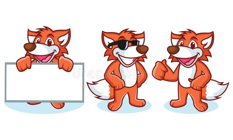 Fox maskotki wektor szczęśliwy ilustracji