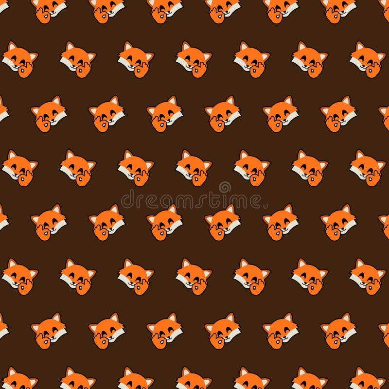 Fox - modèle 10 d'emoji illustration de vecteur
