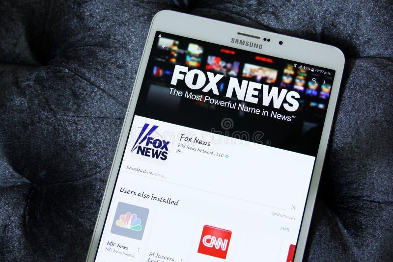 Fox-Nachrichten lizenzfreie stockbilder