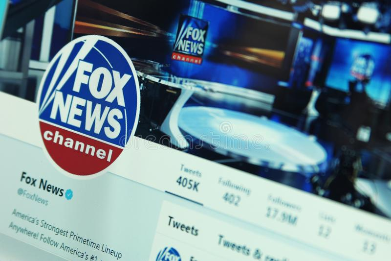 Fox News auf Twitter stockbild