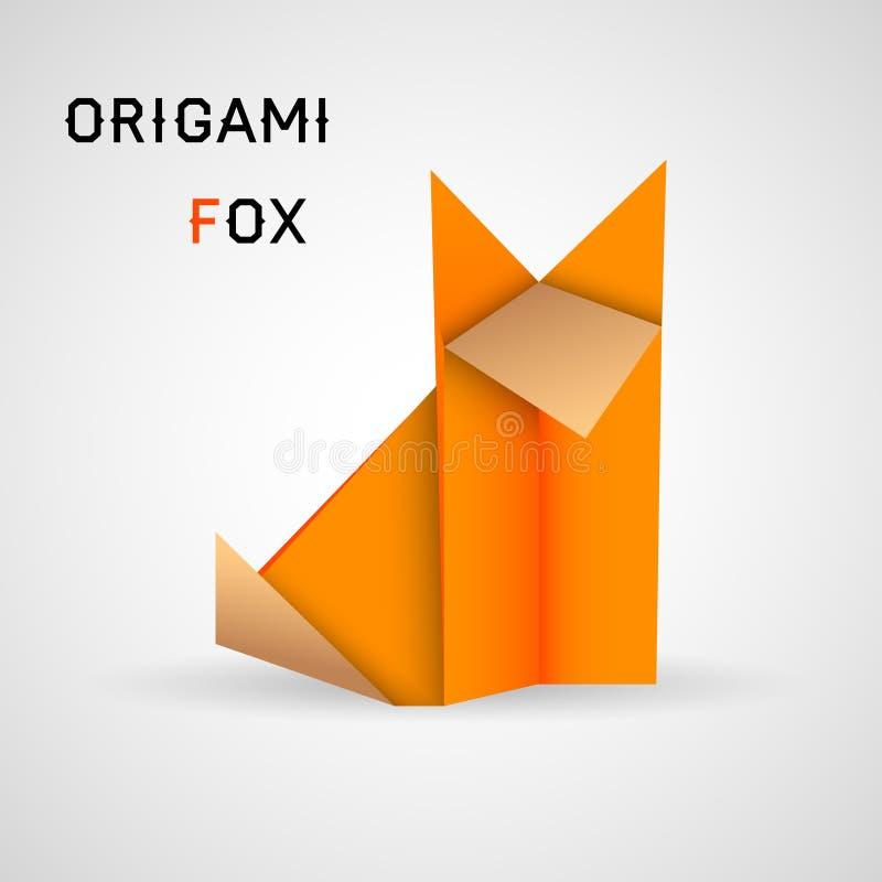 Fox origami royalty ilustracja