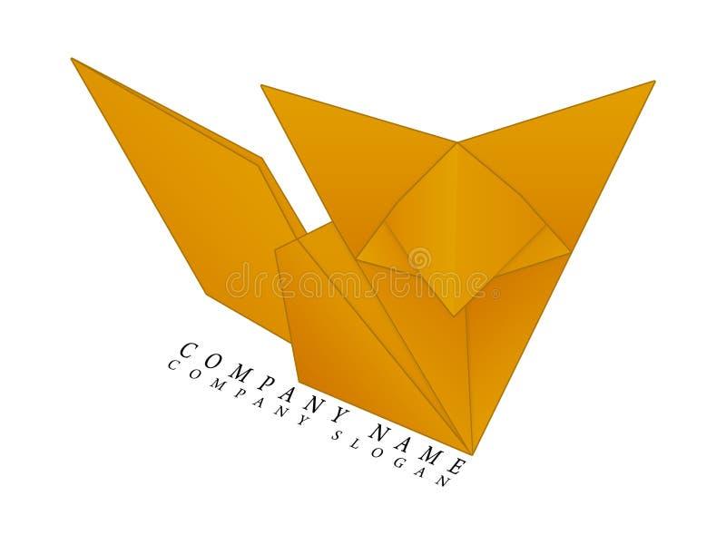 Fox origami logo stock illustration