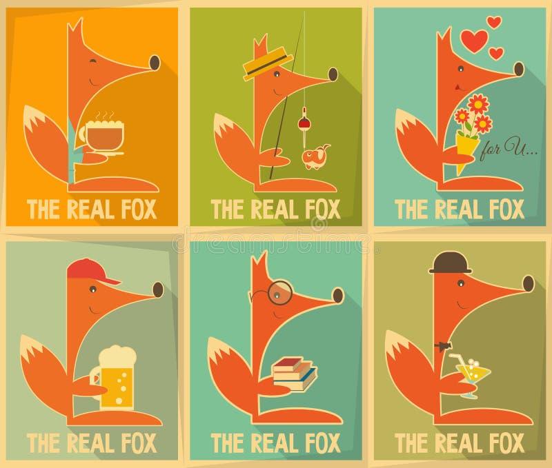Fox plakaty royalty ilustracja
